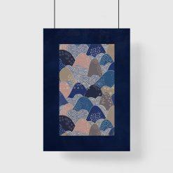 plakat abstrakcyjne góry