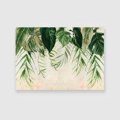 obraz z liśćmi