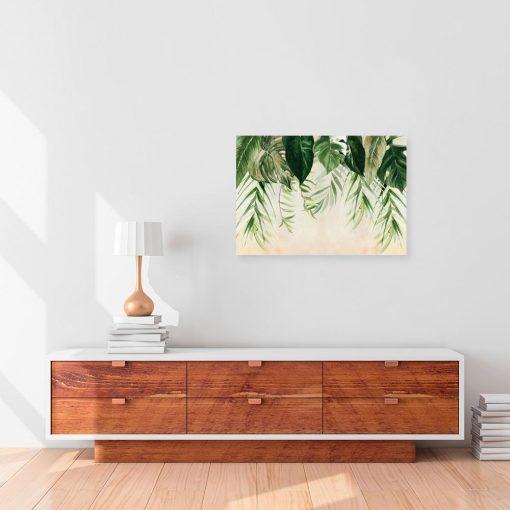 obraz z zielonymi liśćmi