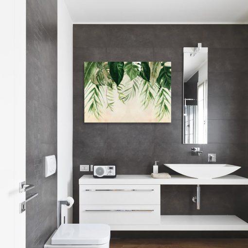obraz tropikalne liście