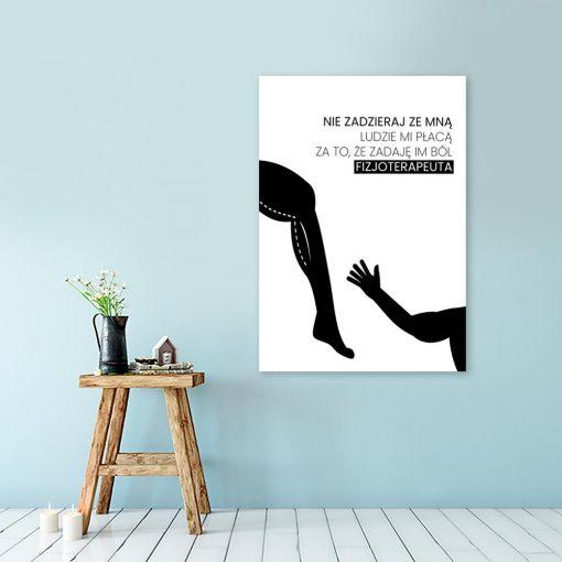 zabawny plakat o fizjoterapii