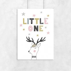 plakat napis little one