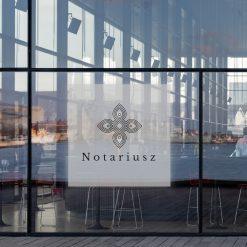 naklejka na okno notariusz