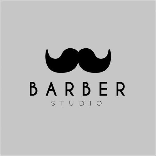 okleina na witrynę z logiem barbera