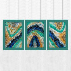 tryptyk kolorowy abstrakcyjny