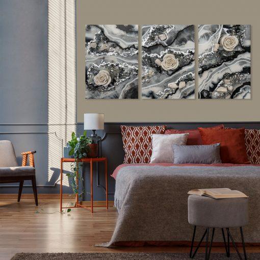 dekoracja z motywem abstrakcji