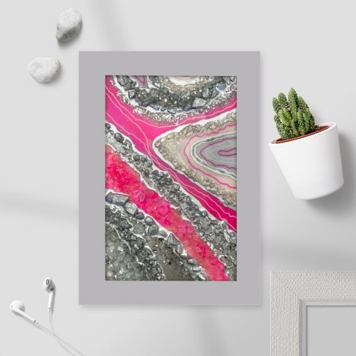 różowa dekoracja z białymi prześwitami