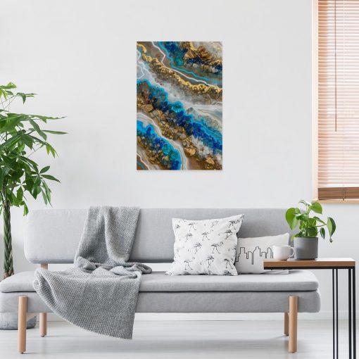 obraz niebieski abstrakcyjny