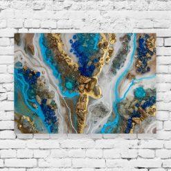 dekoracja z motywem niebieskim