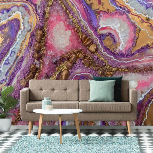 tapeta jako dekoracja do salonu