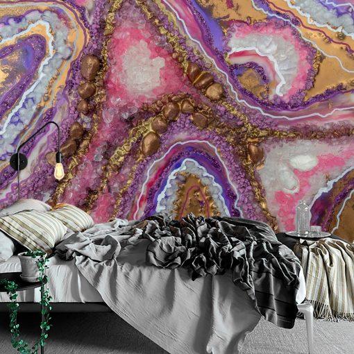 abstrakcyjna dekoracja jako reprodukcja resin art