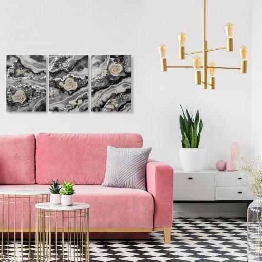 tryptyk ścienny nad sofę