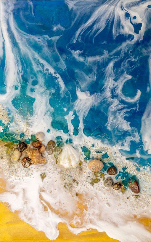 kolorowa dekoracja z morzem