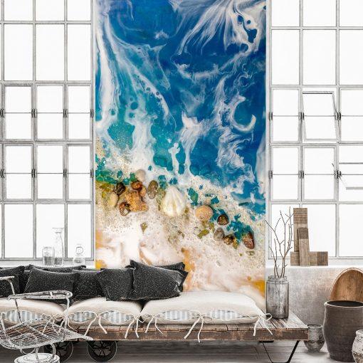 tapeta niebieska jako dekoracja