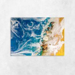 niebieski obraz ścienny