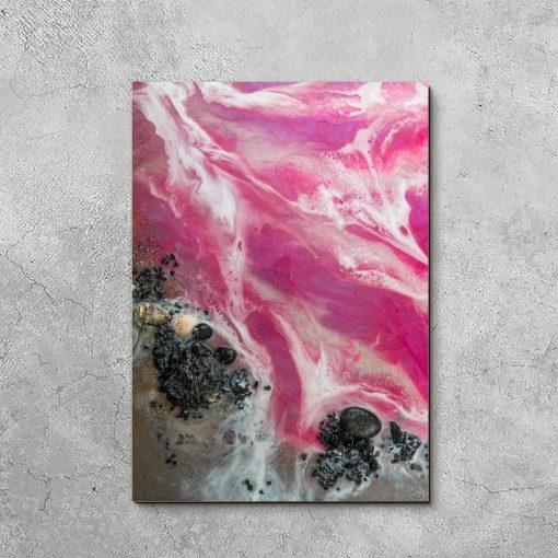 obraz różowy jako abstrakcja