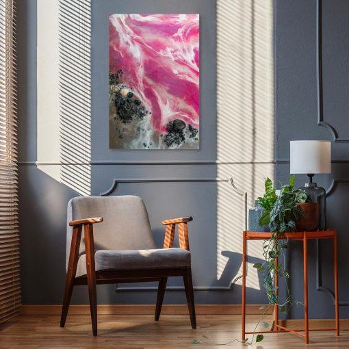 abstrakcja różowa jako obraz