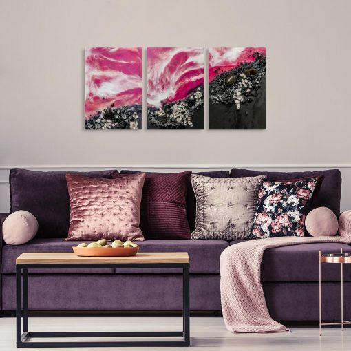 dekoracja abstrakcyjna jako tryptyk