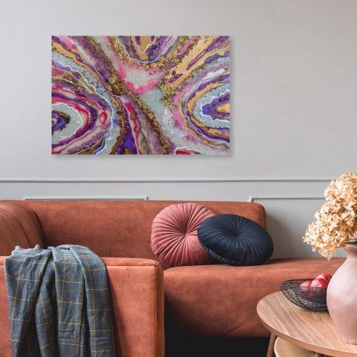 obraz fioletowy jako dekoracja