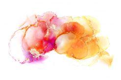 rózowo-pomarańczowe akcenty na tapecie