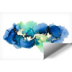 tapeta z niebieskimi kleksami na białym tle