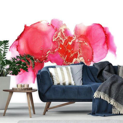 Koralowa abstrakcja jako dekoracyjna tapeta