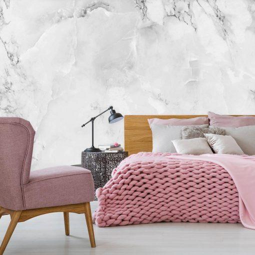 Subtelny marmur jako tapeta na ścianę