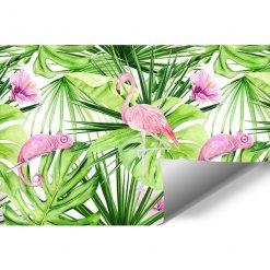 fototapeta zielono-różowa