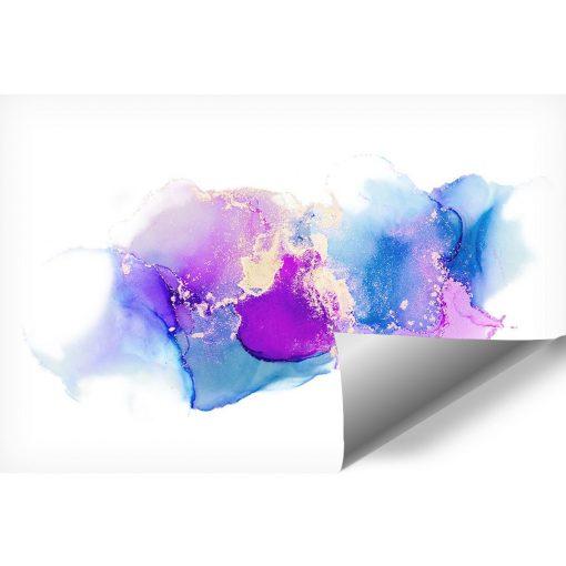 niebieskie i fioletowe plamki jako dekoracja na ścianę