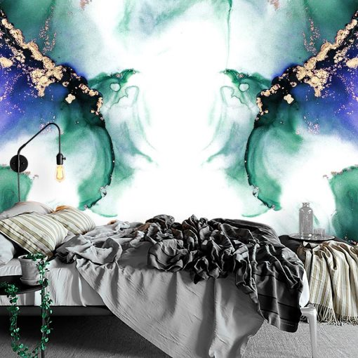 Tapeta do sypialni z abstrakcją
