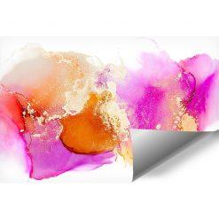 różowe oraz pomarańczowe plamki jako tapeta