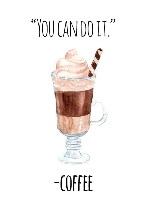 plakat o kawie