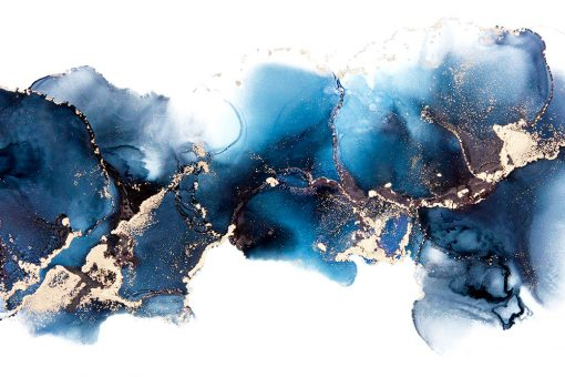 abstrakcyjna foto-tapeta niebieska akwarela