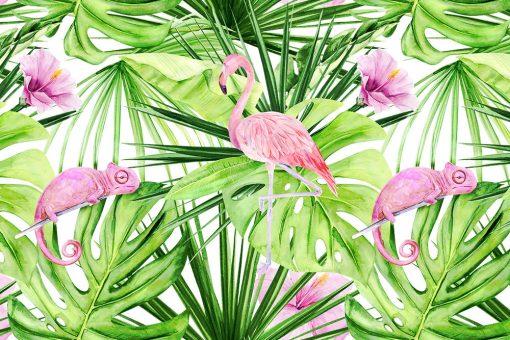 fototapeta z tropikalną grafiką