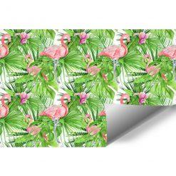 tapeta z motywem tropikalnych roślin