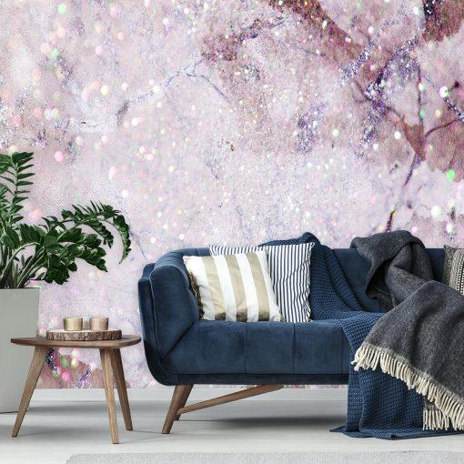 tapeta ścienna różowa jako dekoracja
