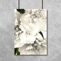 Dekoracja w ramie z kwiatami