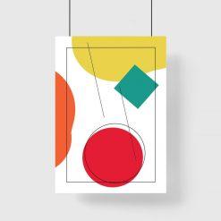 Plakat w ramie do biura z kulą