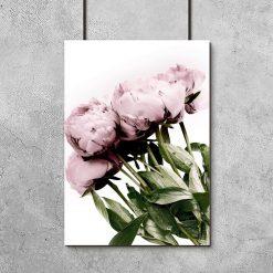 plakat z bukietem kwiatów