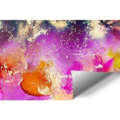 fototapet a plamami akwarelowymi w różowym kolorze