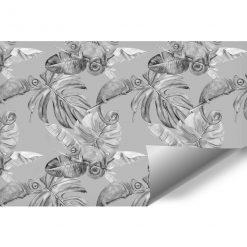 biało-czarna dekoracja jako tapeta ścienna