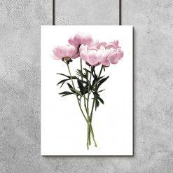plakat jako różowa dekoracja ścienna