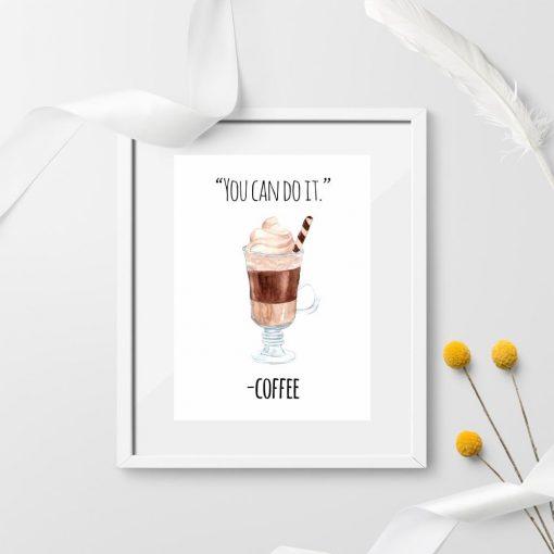 palkat z kawa i napisem motywacyjnym