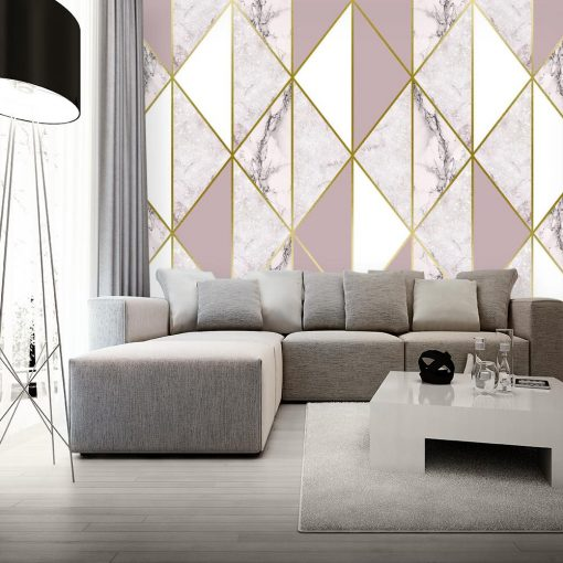 Fotoapeta subtelna marmurowa mozaika