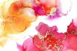 Różowa akwarela jako dekoracyjna fototapeta