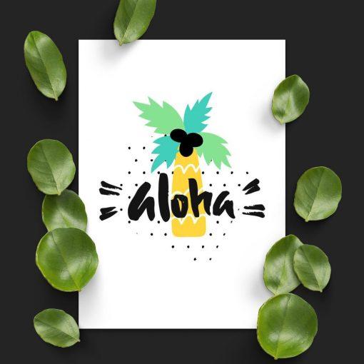 plakat z motywem Hawajów