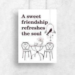 plakat z motywem przyjaźni