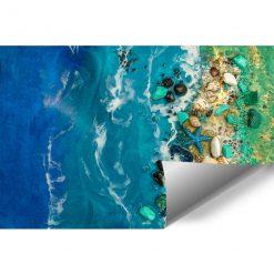 Fototapeta dekoracja z kamieniami i morzem