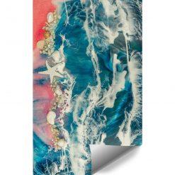 Fototapeta kompozycja malarska resin sea
