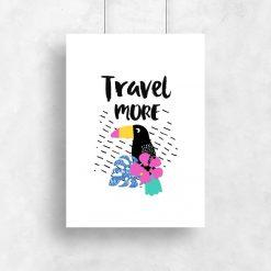 plakat z motywem podróżniczym
